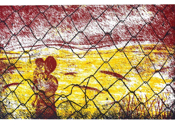 """Importancia de la estampa grabada como instrumento de denuncia social. Casa Tochan y la exposición: """"Migrar es necesario, las fronteras no son necesarias"""""""