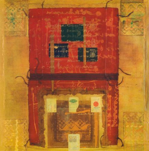 Mesa con tres pasaportes / 2008